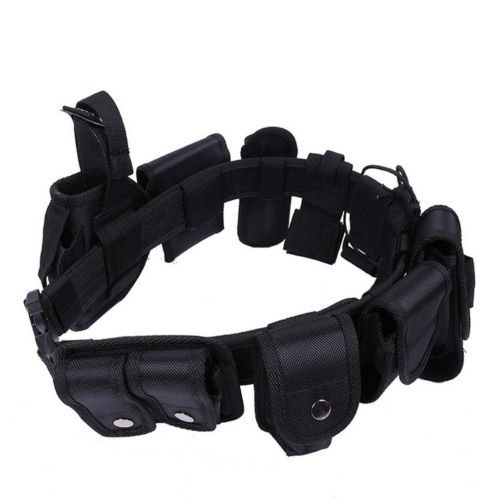 Banggood Tactical Security Guard Utility Kit Nylon Duty Belt Pouch System Black