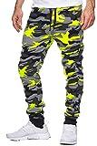 OneRedox Herren Jogging Hose Jogger Streetwear Sporthose Modell 794 Gelb L