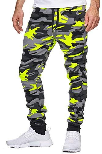 OneRedox Herren Jogging Hose Jogger Streetwear Sporthose Modell 794 Gelb XXL