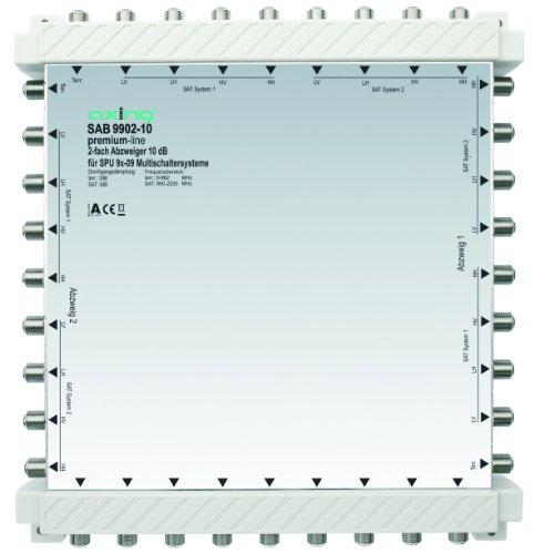 Axing SAB 9902-10 2-Fach Abzweiger (10 dB, 8x Sat / 1x terrestrisch)