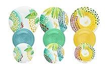Tognana ME070185596 Servizio tavola 18 Pezzi Sunny, Porcellana