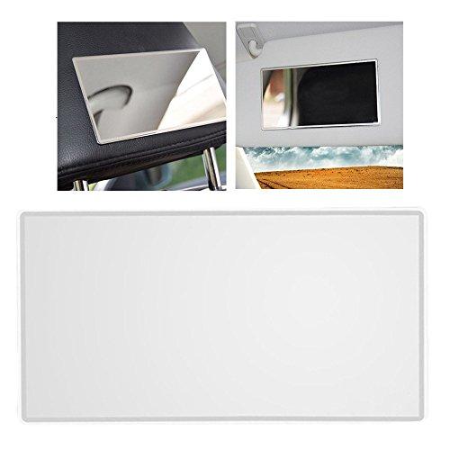 15 * 8 CM Praktische Auto Schminkspiegel Sun-Shading Edelstahl Kosmetikspiegel (Farbe: silber)