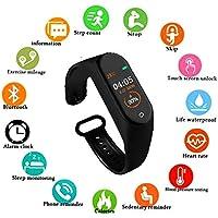 SBA M4-SB021 M4 Band Intelligence Bluetooth Health Wrist Smart Band Watch Monitor/Smart Bracelet/Health Bracelet/Smart Watch for Mens/Activity Tracker/Waterproof Fitness Tracker