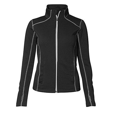 ID - Sweat à coutures en contraste (coupe féminine) - Femme Noir
