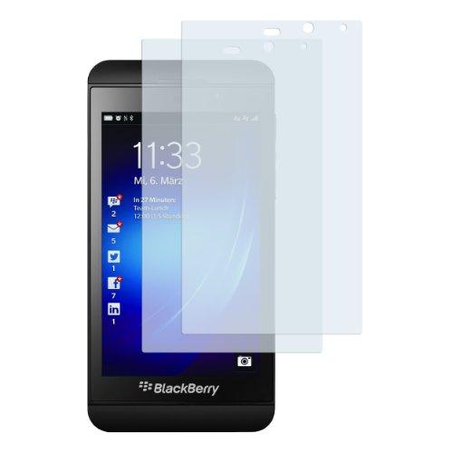 mumbi Schutzfolie kompatibel mit BlackBerry Z10 Folie klar, Displayschutzfolie (2X) (Sie Blackberry Verwenden Z10)