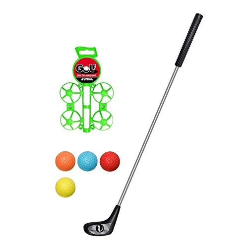 Kinder Golf Set Spielzeug Weihnachten Sport Kinder Golf Spielzeug Set Zubehör für Kinder, 4 Bälle, 1 Golf Club Schwarz