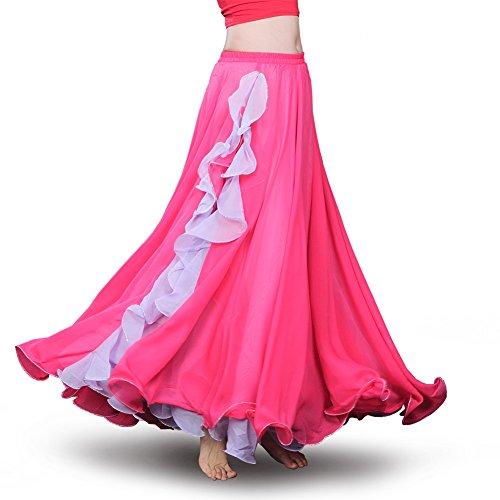 (ROYAL SMEELA Frauen Bauchtanz Kleidung Rock,Hot pink)
