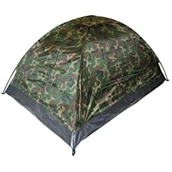 """TENTE """" IGLOO STANDARD """" ETANCHE 2 PLACES CAMOUFLAGE WOODLAND"""