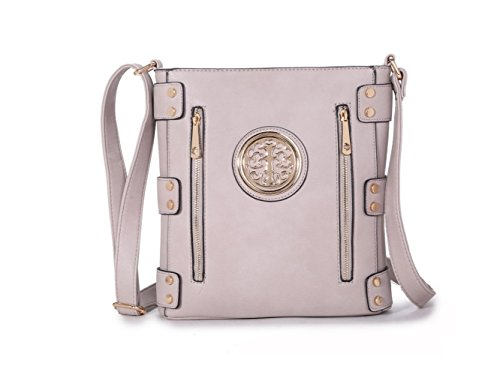 Damen Mode lang Promi Zipper Detaillierte Messenger Tasche Hot Selling Umhängetaschen Taschen CWJM252 CWJM612 CWRM150961 Handgepäck Grau