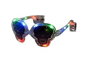 Classic Line 0579-077-LED Halloween Bombilla Gafas Calavera, Transparente
