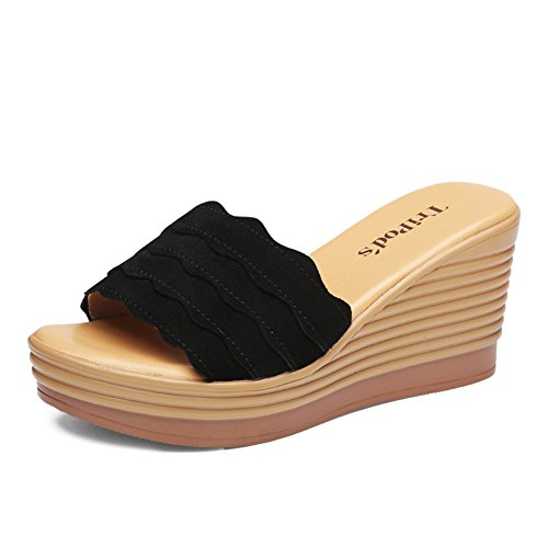Slope mit sommermode sandalen/Dickes ende mit einem wort mit sandalen gezogen B