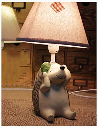 Niños idílicos Dibujos Animados lámpara de Erizo Dormitorio lámpara de Noche Linda Personalidad Creativa lámpara de Mesa Decorativa (Color : A)