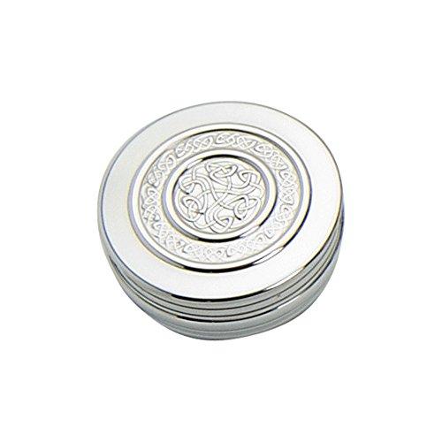Edwin Flasque Celtique & Co Boîte à Bijoux Design Corde, 50 mm x 20 mm, en étain