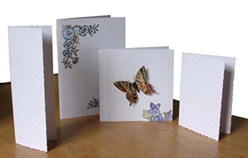 Velvet White 1 Fold Deckle C6 Card Pk25 (Pack) Deckle Pack