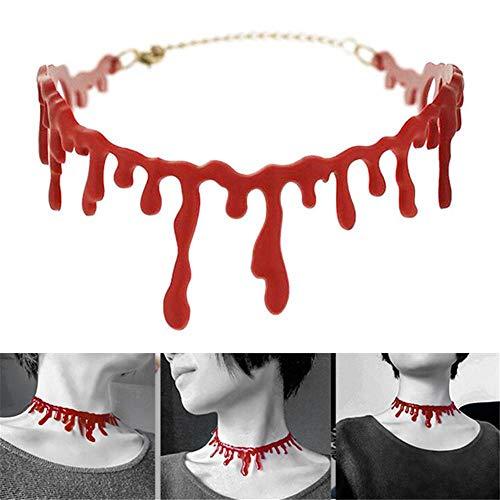 Bluelover Halloween Horror Blut Drip Halskette Gefälschte Blut Vampir Phantasie Joker Choker Kostüm Rote Halsketten