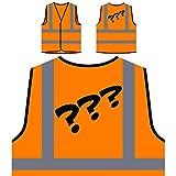 Questions Comic Vintage Funny Nouveauté Veste de Protection Orange personnalisée à Haute visibilité d705vo
