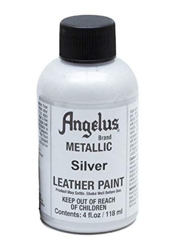 Angelus Acryl Leder Farbe 118ml / 4oz (Silber / Silver)