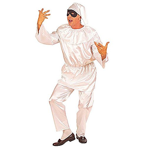 �Kostüm für Erwachsene Brausestrahl, weiß, S (Pulcinella Kostüm)