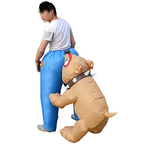 LOVEPET Parodie Hund Beißende Arsch Spaß Aufblasbare Kostüm Niedlichen Cartoon Aufblasbare Kleidung Schule Bühne Requisiten Maskerade Kostüm (Bum Shorts Kostüm)