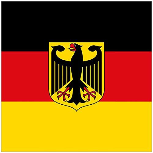Wallario Magnet für Kühlschrank/Geschirrspüler, magnetisch haftende Folie - 60 x 60 cm, Motiv: Deutsche Flagge mit Wappen -