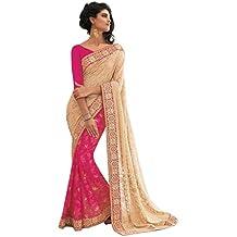 Jay Sarees - Sari - para mujer Rosa rosa única