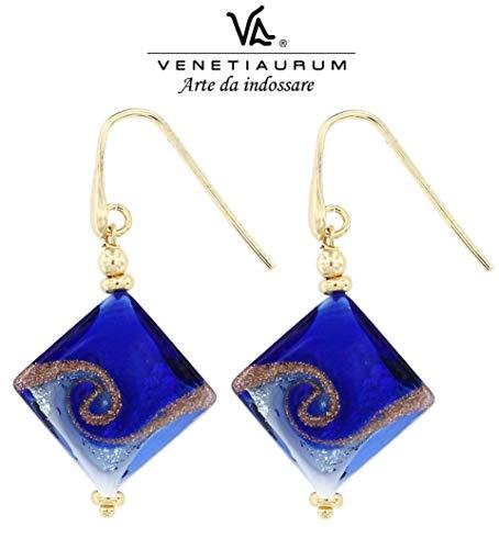 Venetiaurum - Orecchini Da Donna Con Perle In Vetro Originale Di Murano E Argento 925 - Gioiello Made In Italy Certificato