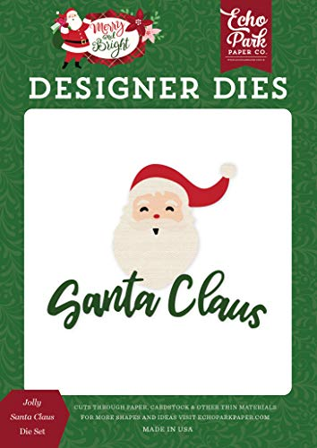 Echo Park Paper Company MB160041 Jolly Santa Claus Set die, red, Green, Pink, Black, Gold, Mint