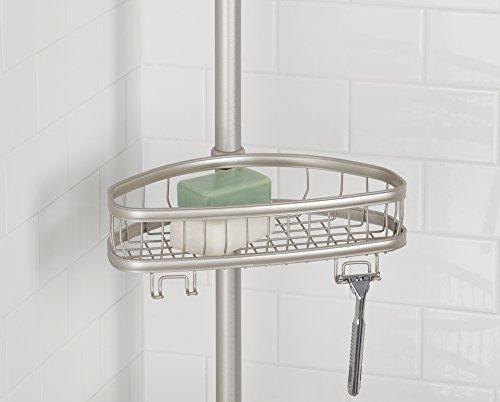 Mdesign asta telescopica doccia con cestelli - Angoliera per bagno ...