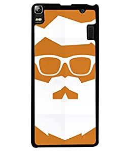 Lenovo K3 Note, Lenovo A7000 Turbo Back Cover Beard Man Portrait Design From FUSON