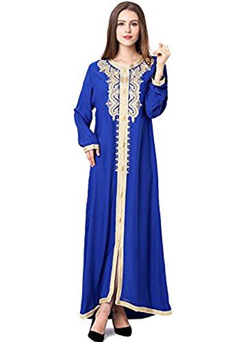 2f9f0280e31 vetement femme musulmane   muslima abaya robe islamique Caftan brodé  jalabiya rayonne dubai maxi dress longue