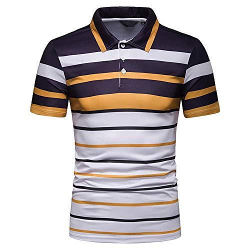 Beonzale Herrenmode Kurzarm Streifen Malerei Große Größe Lässige Bluse Top Print Shirt Casual Basic Shirts Top Bluse