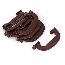 Sourcingmap-Parte 12,7cm de plástico equipaje Maleta con asa marrón 10pcs