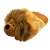 Cozy Time Big Foot Slipper - Lion Light Brown