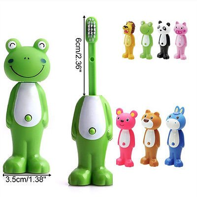 RIANZ All New Imported Bounce Up Funny Animal Baby Tooth brush 1pc