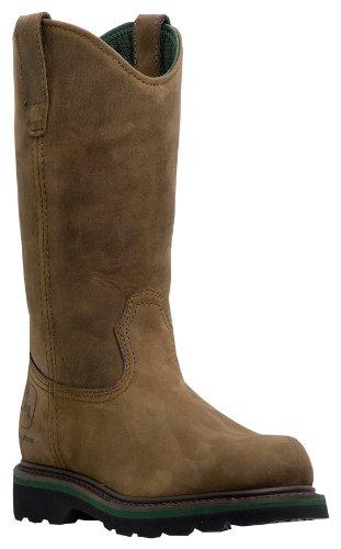 john-deere-mens-11-crazy-horse-leather-wellington-work-boots-jd5124-jd5124m14-uk-13m