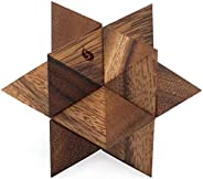Shooting Star Puzzle: Handmade & Organic 3D Brain Teaser Wooden Puzzle for Adults from SiamMandalay with S