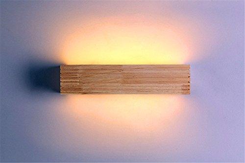 SADASD Nordic Led Holz Spiegel Scheinwerfer Moisture-Proof Bad modernes, minimalistisches Spiegelleuchte Schminktisch Spiegel Licht, kleine 6-W-35 * 9. -