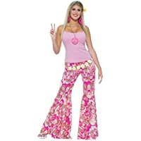 Flower Power Bell Bottom Trousers (Adult Costume) - Female - One Size