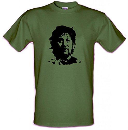 Preisvergleich Produktbild Shane MacGowan The Pogues Irish Punk T-Shirt im Che-Guevara-Stil aus Baumwolle, Größe S–XXL, grün