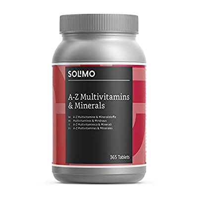 Amazon Brand - Solimo A-Z Multivitamins and Minerals Food Supplement, 365 Tablets from Solimo