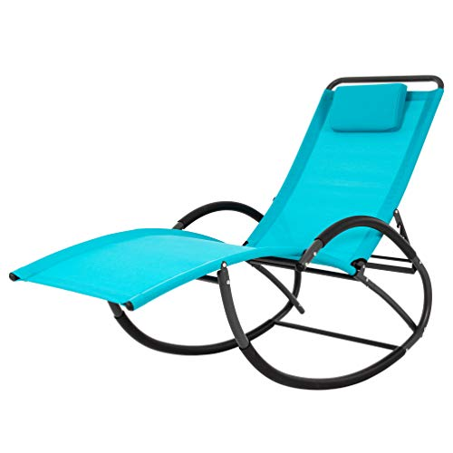 Vivere WAVELAZE-TT Wave Laze Chair - Steel - True Turquoise Best Price and Cheapest