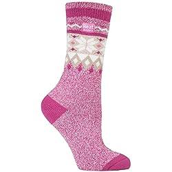 Heat Holders Lite - Mujer Calientes Térmicos Calcetines Suave Cómodo Divertidos Finos Colores Invierno para Frío 37-42 eu (Heaton)