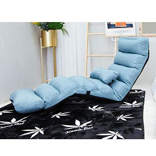 YQQ-Puff Sofá Lounge Cama Plegable Ajustable Tumbona De Suelo Durmiente De Futon...