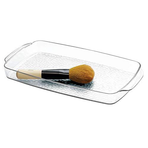 Interdesign rain vassoio cosmetici, plastica, trasparente, 28x15x3 cm