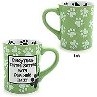Our Name Is Mud Dog Hair Mug - Light Green