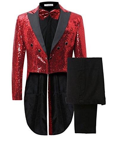 Hommes queue de morue Veste de Costume Uniforme Suit Ronde Châle Tuxedo Dîner Mariage Prom Party deux pièce Blazer Pantalon