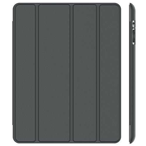 Hülle (JETech Hülle für Apple iPad 4 iPad 3 iPad 2, Licht und Dünn Schutzhülle mit Ständer Funktion und Auto Einschlafen, Aufwachen, Grau)