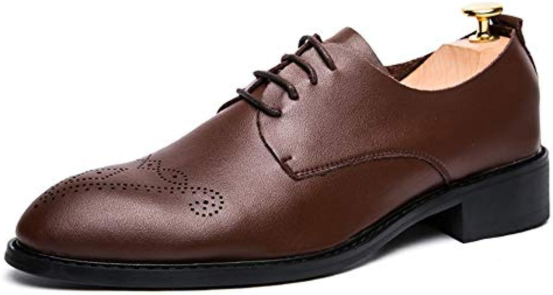 Jiuyue-scarpe, 2018 Scarpe Oxford da Uomo, Casual in Pelle Morbida Stile Inglese, intagliate Scarpe semplici Scarpe... | vendita all'asta  | Maschio/Ragazze Scarpa