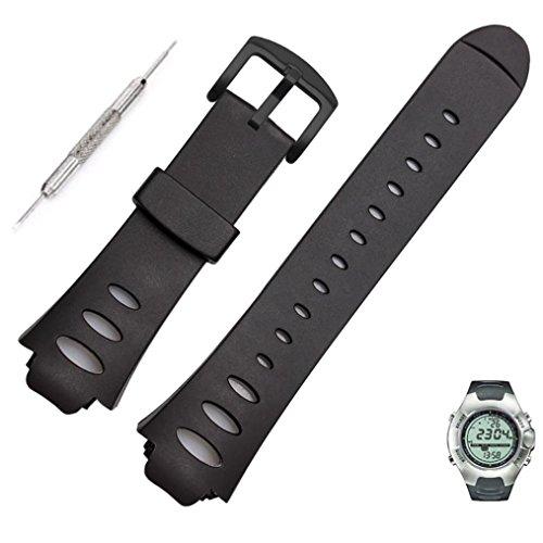 99native Native99 Luxury Rubber Ersatz Uhrenarmband Strap SS0S4723000 Für SUUNTO Observer SR X6HRM (schwarz)