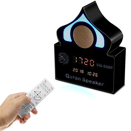 LaDicha Drahtlose Bluetooth Koran Lautsprecher Wecker Variable Farbe Licht Musik Lautsprecher Mit Mikrofon